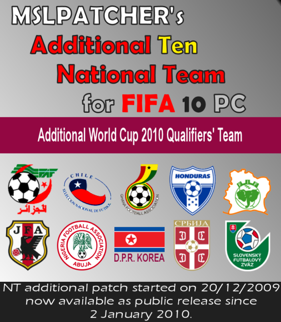 I have created a new small NT patch for FIFA10 PC. In the patch you can fi
